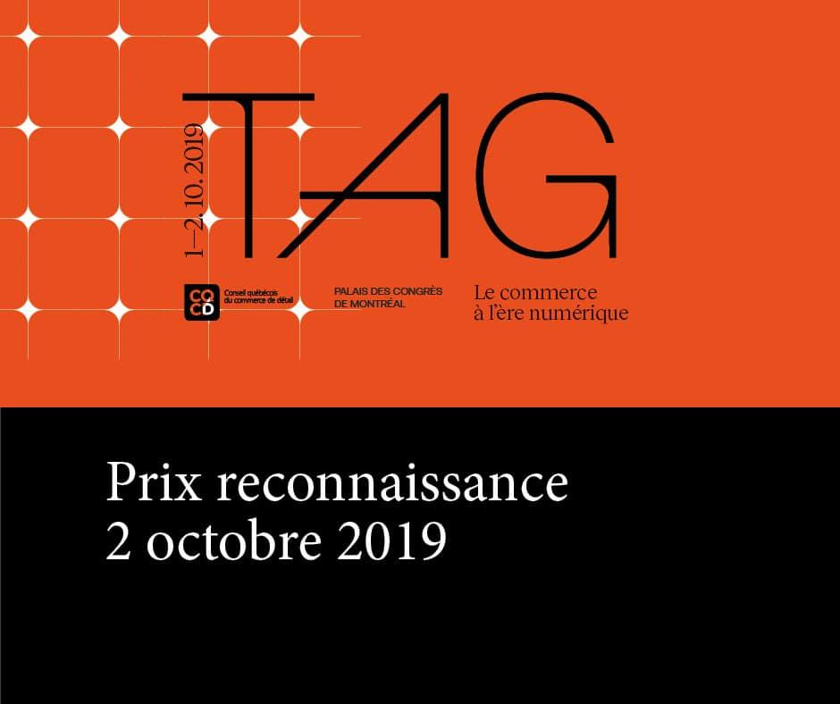 Prix reconnaissance : 2 octobre 2019.
